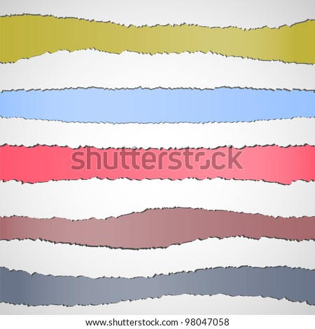 Torn paper banners with space for text.Vector set - stock vector