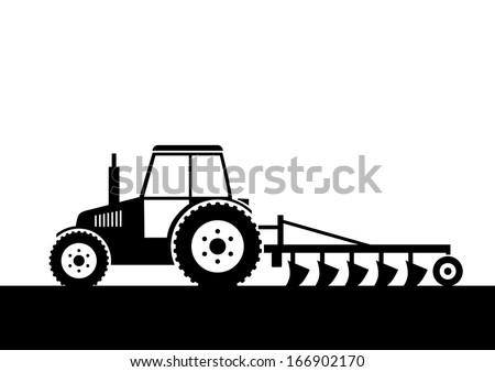 Tractor Plowing Stock Vectors & Vector Clip Art | Shutterstock