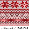 Traditional Scandinavian pattern. Knitted background. Vector illustration. - stock vector