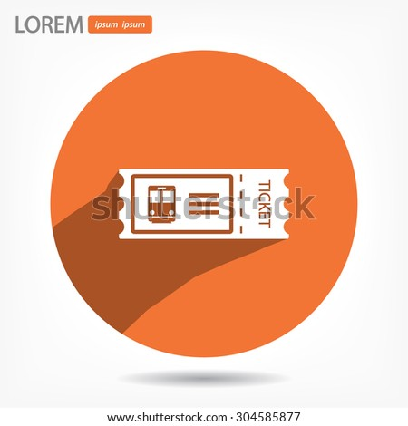 train ticket , icon. Vector  Eps 10