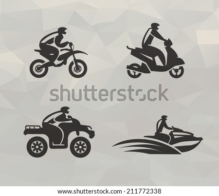 Transport icons. Vector format - stock vector