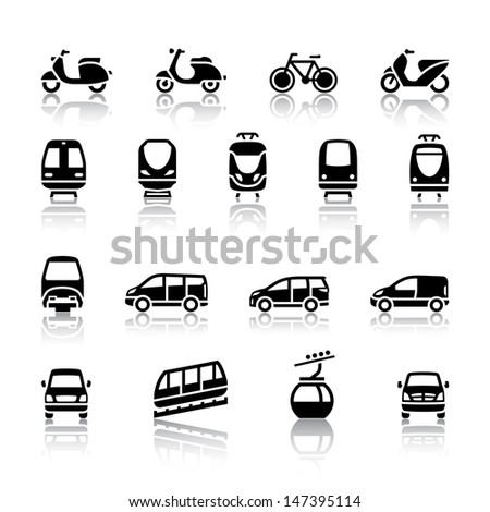Transport icons. Vector illustration - stock vector