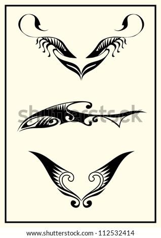 3 Tribal Tattoo - stock vector