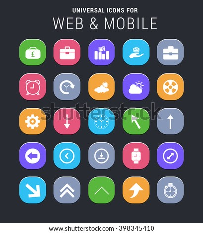 25 universal icons for website and app