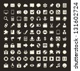 100 Universal Outline Icons For Web and Mobile - stock vector