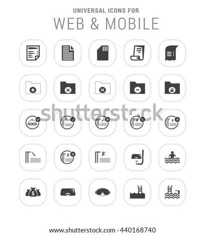 25 Universal web and mobile icon set.  - stock vector