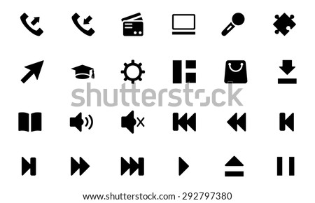 Universal Web and Mobile Vector Icons 3  - stock vector