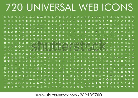 720 universal web icons set. Eps.10 - stock vector