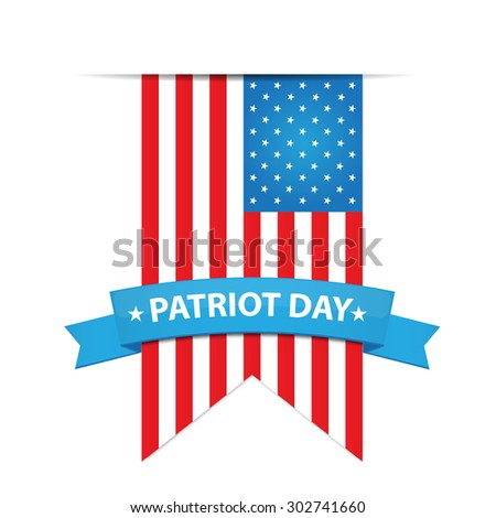 USA Flag for Patriot Day - stock vector