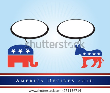 2016 USA presidential election poster or sticker, with space for text. Vector file available.  - stock vector