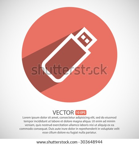 usb flash drive . line vector icon - stock vector