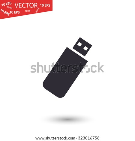 usb flash drive vector icon - stock vector
