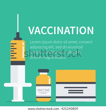 vaccination concept poster text place vector stock vector 425240809 shutterstock. Black Bedroom Furniture Sets. Home Design Ideas