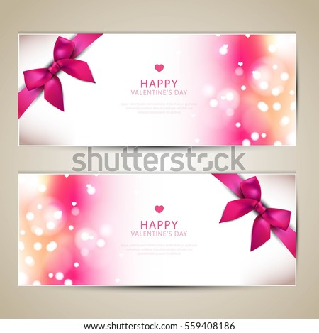 Valentines Day Beautiful Greeting Cards Copy Vector – Beautiful Valentines Cards