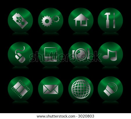 12 various web icons. (design elements) - stock vector