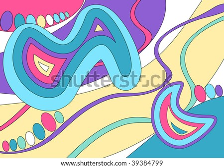 (Vector) Abstract design inspired by the work of the fashion designer Emilio Pucci. A Jpg version is also available. - stock vector
