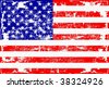 Vector American Flag Grunge - stock photo