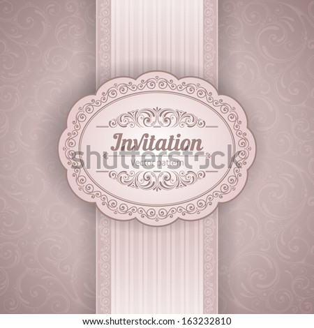 Vector background with ornamental floral elements. Vintage pattern for invitation or greeting card
