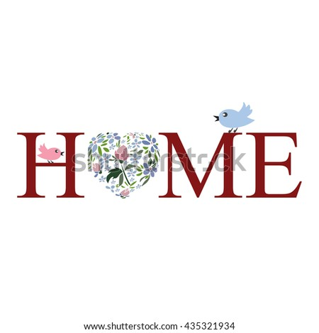 """Vector concept of sign, title, name or logo for a variety of designs. A series  """"home accessories"""". Easy to edit. - stock vector"""