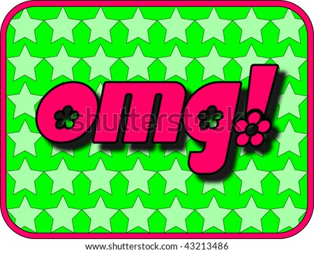 (Vector - eps10) A fun icon with OMG! (Oh My God!) - stock vector