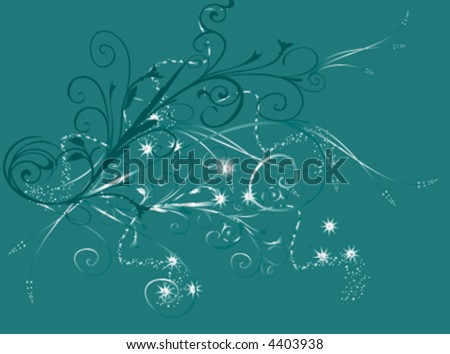 -vector- floral background
