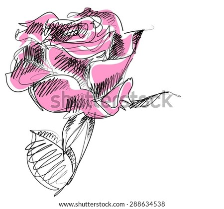 VECTOR    Flower background for design with rose  - stock vector
