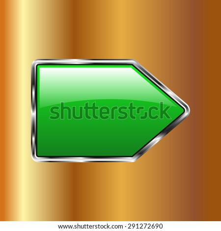 Vector glossy button icon, samples on a Gold background
