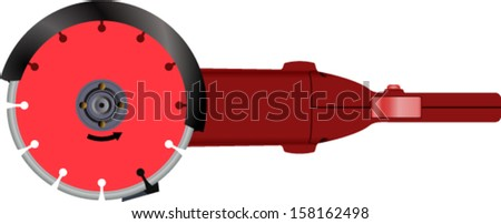 vector grinder circle saw on the white background