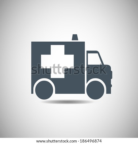 Vector icon Ambulance icon - stock vector