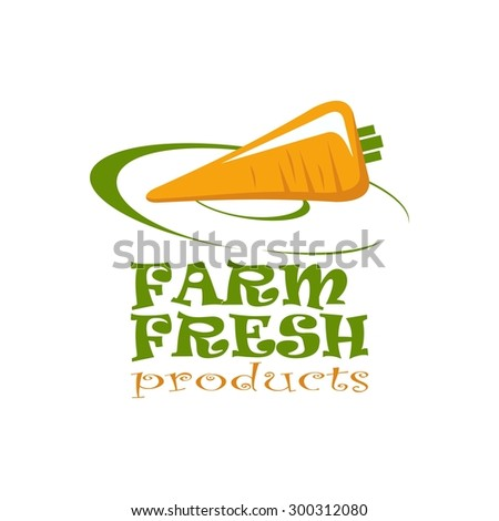 vector icon and symbol for organic food, eco food. - stock vector