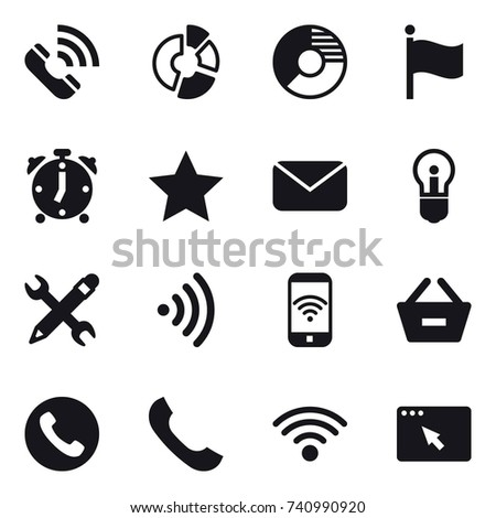 simple set phone related vector line stock vector