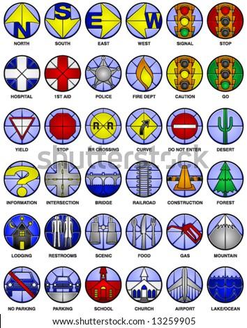 36 Vector Icons Common Map Symbols Stock Vector 13259905 Shutterstock