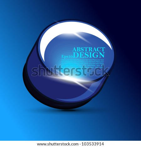 Vector illustration blue shiny glossy buttons for your business website.