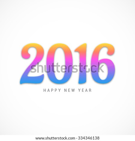 Vector Illustration dectroated text for Happy new year.