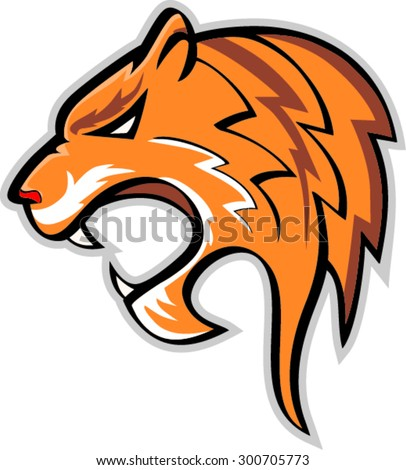Vector illustration of a tiger head.