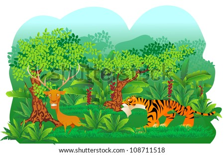 Image result for deer hunted by tiger images