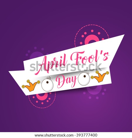 Vector illustration of Celebrating April Fools' Day. - stock vector