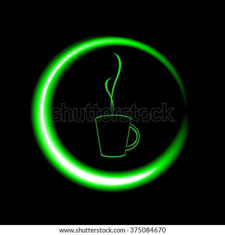 Vector illustration of coffee cup concept - Illustration Coffee - Drink, Sign, Breakfast, Cafe, Symbol