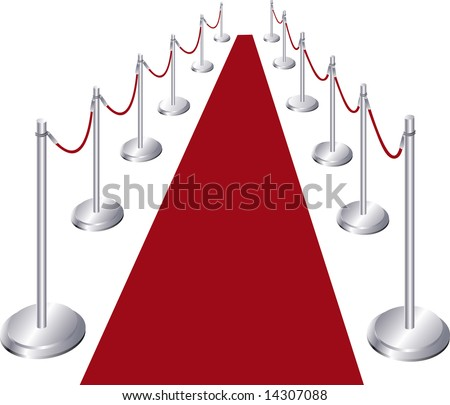 Vector illustration of red carpet entrance