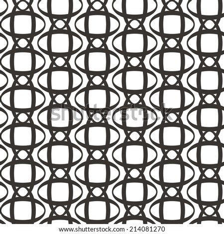 Vector illustration of seamless black-and-white pattern - stock vector