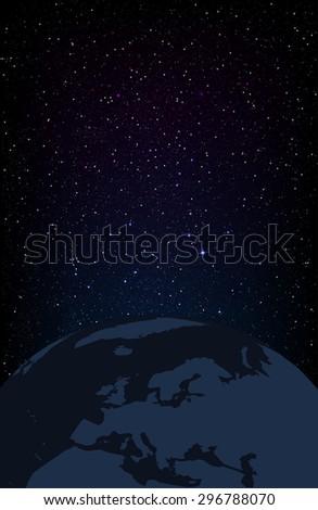 Vector illustration of star field. - stock vector