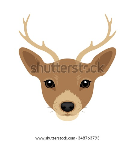 Vector Illustration Portrait of Deer