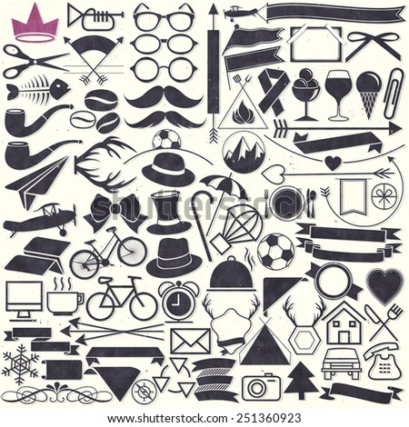 vector illustrations hipster style object collection stock vector rh shutterstock com all vector download all vector people