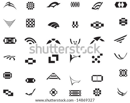 36 vector logos and elements - stock vector