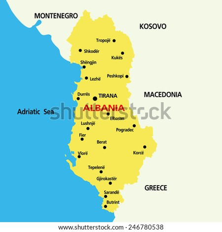 Albania Map Vector Vector Map of Albania With