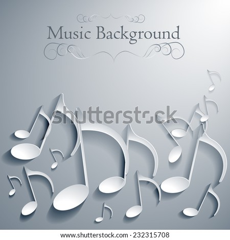vector music note background design.eps10 - stock vector