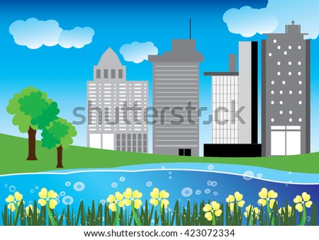 Vector of building  and home
