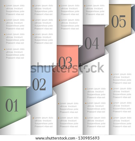 Vector paper numbered banners.Design template