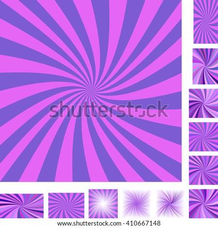 12 vector retro spiral design backgrounds - stock vector