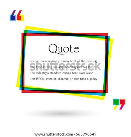 vector set quote forms template colorful stock vector 665998549